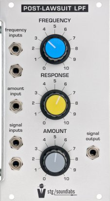 Eurorack Module Post-Lawsuit Lowpass Filter from STG Soundlabs