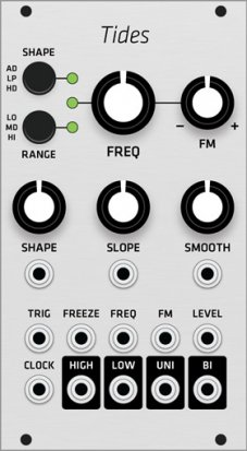 Eurorack Module Mutable Instruments Tides (Grayscale panel) from Grayscale