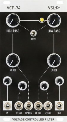 Eurorack Module VCF-74 (MK1) from Vintage Synth Lab