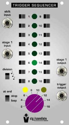 Eurorack Module Trigger Sequencer from STG Soundlabs