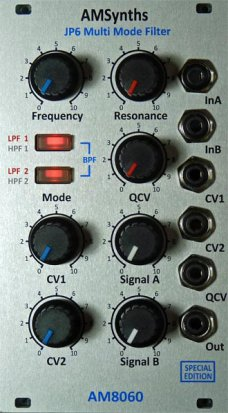 Eurorack Module AM8060SE JP6 Multi-Mode VCF from AMSynths