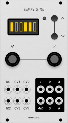 Eurorack Module Temps Utile (Grayscale panel) from Grayscale