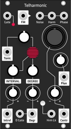 Eurorack Module Telharmonic (Grayscale black panel) from Grayscale