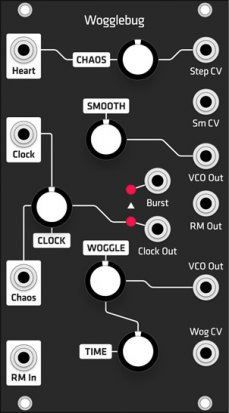Eurorack Module Wogglebug (Grayscale black panel) from Grayscale
