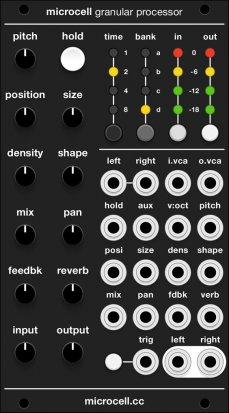 Eurorack Module Microcell - uCell, µCell, Micro Supercell (black panel) from Grayscale