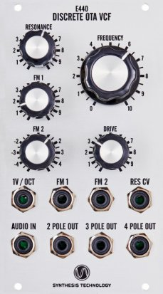 Eurorack Module E440 Discrete OTA VCF from Synthesis Technology