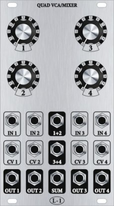 Eurorack Module Quad VCA/Mixer from L-1