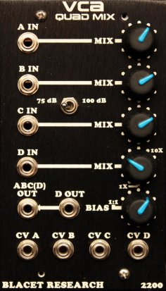 Frac Module VCA Quad Mix from Blacet