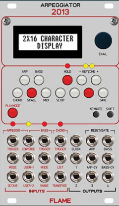 Eurorack Module Arpeggiator 2013 from Flame