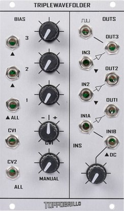 Eurorack Module Triple Wave Folder from Toppobrillo