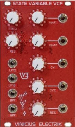 Eurorack Module State Variable VCF from Vinicius Electrik