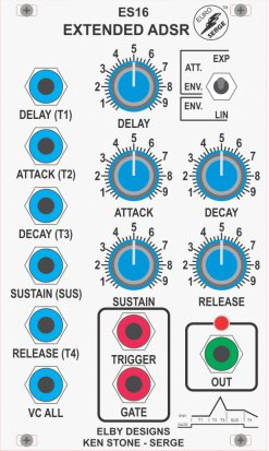 Eurorack Module ES16 - Extended ADSR from Elby Designs