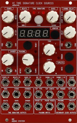 Eurorack Module ADDAC403 VC Time Signature Clock Sources from ADDAC System
