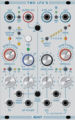 Eurorack Module Two LFOs from Aemit