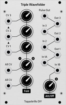 Eurorack Module Toppobrillo Triple Wavefolder DIY (TWF) from Grayscale