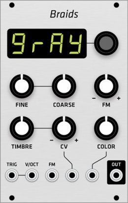 Eurorack Module Mutable Instruments Braids (Grayscale panel) from Grayscale