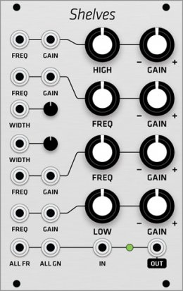 Eurorack Module Mutable Instruments Shelves (Grayscale panel) from Grayscale