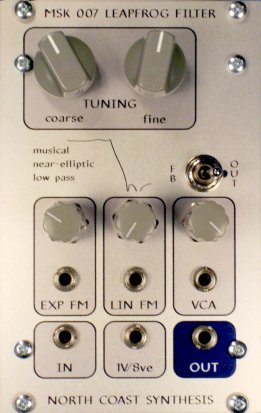 Eurorack Module MSK 007 Leapfrog VCF from North Coast Synthesis