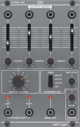 behringer system 100 131 mixer oscillator headphone amp eurorack module on modulargrid. Black Bedroom Furniture Sets. Home Design Ideas