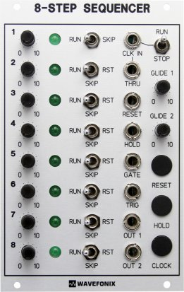 Eurorack Module 8-Step Sequencer from Wavefonix