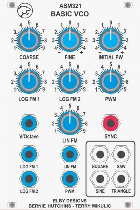 Eurorack Module ASM321 - Basic VCO from Elby Designs
