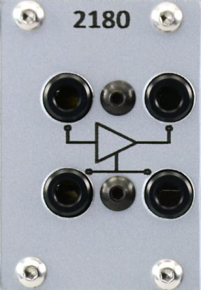 Eurorack Module 2180 VCA silver from PulpLogic