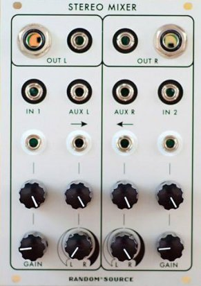 Eurorack Module Stereo Mixer from Random*Source