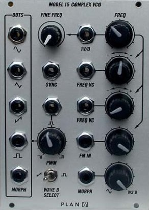 Eurorack Module Model 15 Complex VCO from Plan B