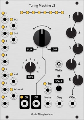 Eurorack Module Turing Machine v2 micro hybrid panel from Grayscale