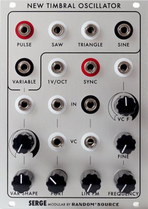 Eurorack Module Serge New Timbral Oscillator (NTO) from Random*Source