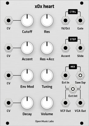 Eurorack Module x0x Heart (Grayscale panel) from Grayscale