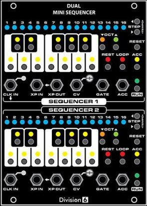 Eurorack Module Dual Mini Sequencer from Division 6