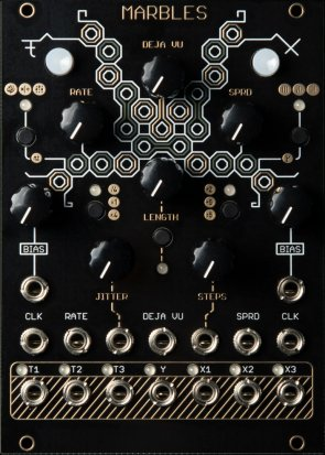 Eurorack Module Momo Modular Marbles clone (Oscillosaurus Black/Gold) from Other/unknown