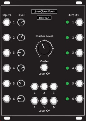 Eurorack Module Hex VCA from SynQuaNon