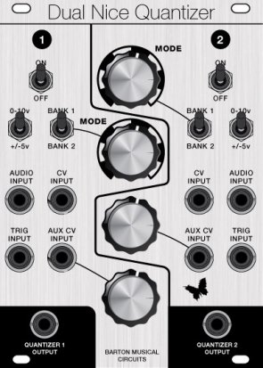 Eurorack Module Dual Nice Quantizer (Clarke68 panel) from Barton Musical Circuits