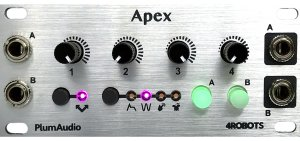 Eurorack Module Apex 4ROBOTS (Silver Panel) from Plum Audio