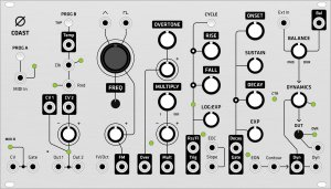 Eurorack Module 0-Coast (Grayscale panel) from Grayscale