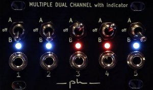 Eurorack Module Multiple dual channels with leds 1U (alternative version) from ph modular