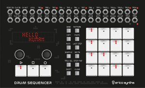Eurorack Module Drum Sequencer from Erica Synths