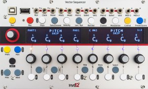 Eurorack Module Vector Sequencer from Five12