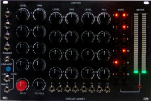 Eurorack Module UNIFIED - 12 Channel custom mixer from Million Machine March