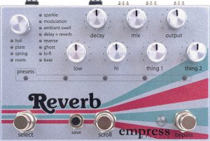 Pedals Module Empress Reverb from Empress Effects