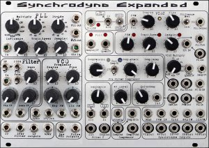 Eurorack Module Synchrodyne Expanded from Panels4DIY