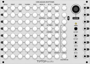 Eurorack Module Tiptop Audio Circadian Rhythms (Grayscale Panel) from Grayscale