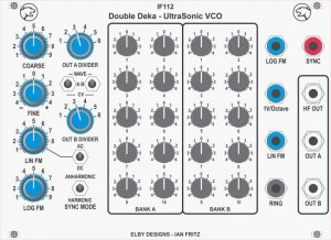 Eurorack Module IF112 - Double Deka US VCO Mkii (Potentiometer version) from Elby Designs