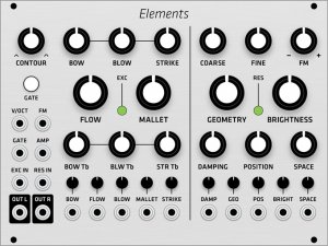 Eurorack Module Mutable Instruments Elements (Grayscale panel) from Grayscale