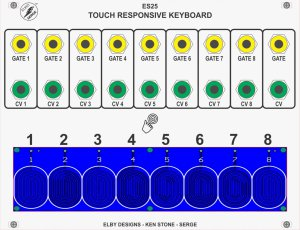 Elby Designs ES25 - Touch Responsive Keyboard