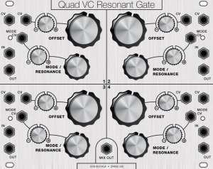 Eurorack Module Quad VC Resonant Gate from Other/unknown