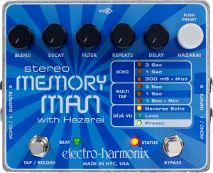 Pedals Module Stereo Memory Man With Hazarai from Electro-Harmonix