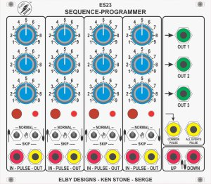 Eurorack Module ES23 - Sequence Programmer from Elby Designs